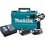 Makita XPH01RW 18V LXT Lithium-Ion Compact Cordless 1/2'' Hammer Driver-Drill Kit (2.0Ah) (Discontinued by Manufacturer)