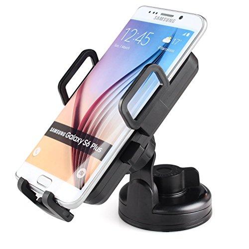 iDOO induktives Ladegerät fürs Auto / Qi Vehicle Mounted Car Wireless Charger/ Qi-kompatible KFZ Handy-Halterung 360°drehbar inklusive Saugnapfhalterung für die Windschutzscheibe und praktischem KFZ-Ladekabel für Samsung Galaxy S6/S6 edge/S6 edge+/S7 edge/Note 5, Google Nexus 7/6/5/4, Nokia Lumina, HTC, SONY Xperia, LG und andere Qi-fähige Geräte
