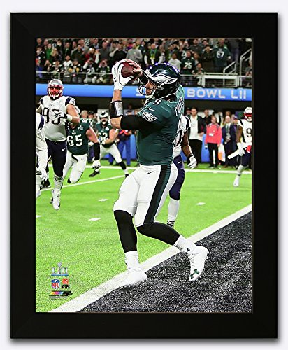 Philadelphia Eagles Super Bowl 52 MVP Nick Foles Catches The Only Touchdown By A Quarterback In Super Bowl History. Framed 8x10 Photo, Picture