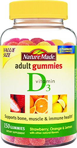 Nature Made vitamine D adultes Gummies, 90 Count