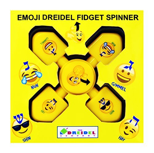 Emoji Dreidel Yellow Spinner! 1 & 5 Pack (1)