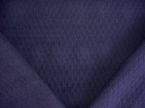 - 24RT3 - Sapphire Blue Diamond / Lattice Matelasse Designer Upholstery Drapery Fabric - By the Yard