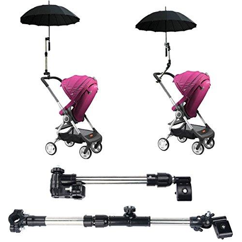 Suerhatcon Adjustable Umbrella Holder Swivel Connector Handlebar Frame Stand for Bike Stroller Wheelchair Baby Chair Pram (Model # 1) by Suerhatcon (Image #6)