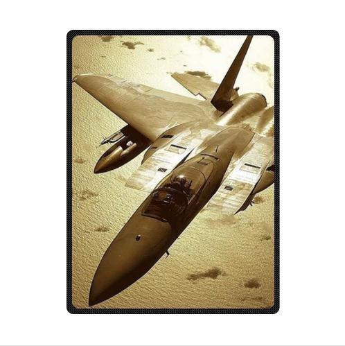 Best Seller U.S Air Force F-15 Eagle Pattern Design U.S. Air Force Custom Fleece Blanket 58 x 80 (Large) (Eagle Air F15 Force)