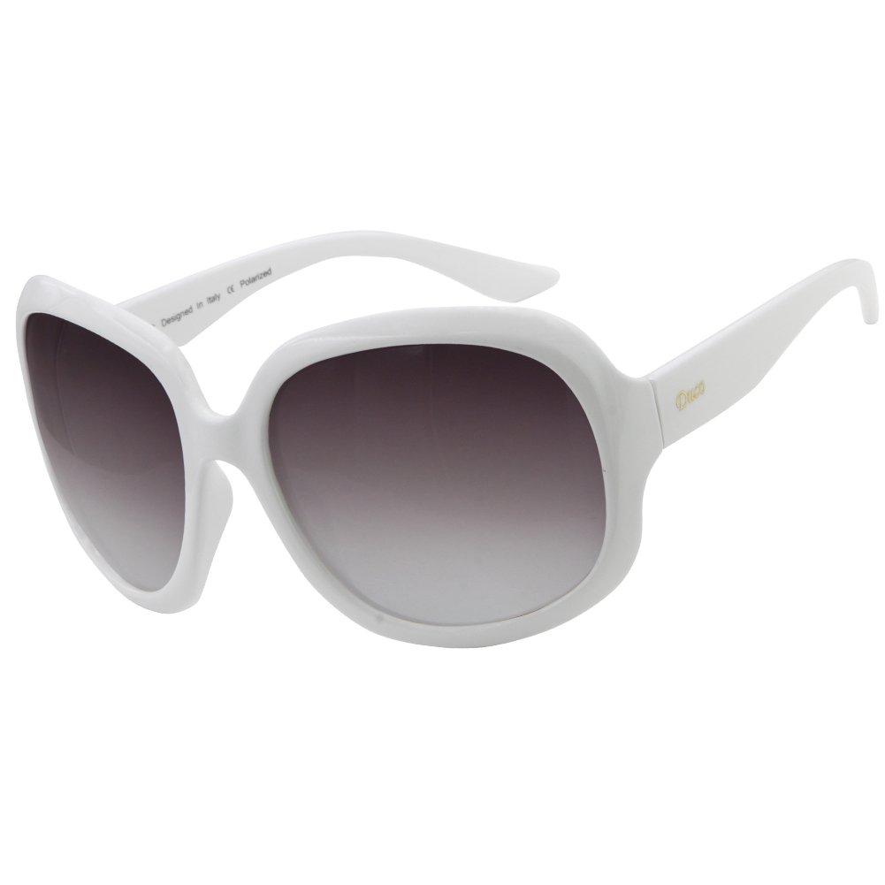 Duco - Gafas de sol - para mujer Weiß Rahmen Grau Objektiv ...