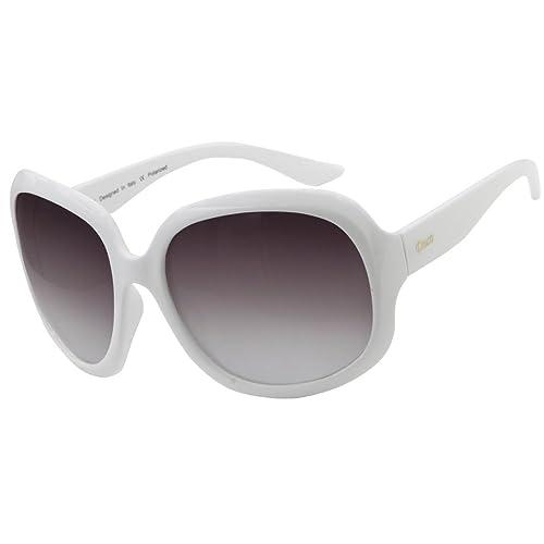 femminile Duco oversize occhiali da sole polarizzati 100% protezione UV 3113 Bianco Telaio Lenti gri...