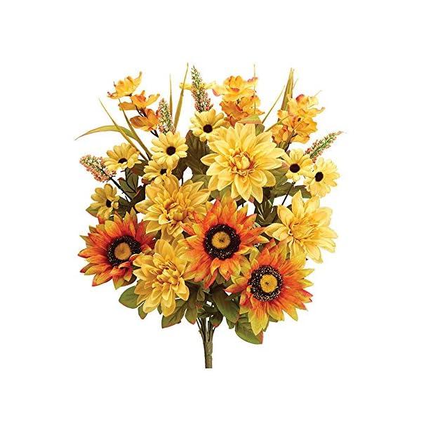 Burton & Burton Silk Bush 21″ Dalhia/Sunflower