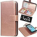 "Urvoix for Apple iPhone 6 Plus / 6S Plus (5.5""), Wallet Leather Flip Card Holder Case, 2 in 1 Detachable Magnetic Back Cover iPhone6 Plus / iPhone6S Plus (NOT for iphone6) (Rose Gold)"