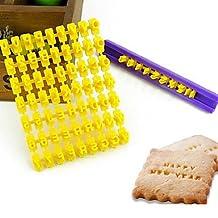 FMY Hot Sale Alphabet Number Cookies Biscuit Letter Stamp Embosser Fondant Cake Decorating Mold Braking Cutter Random Color