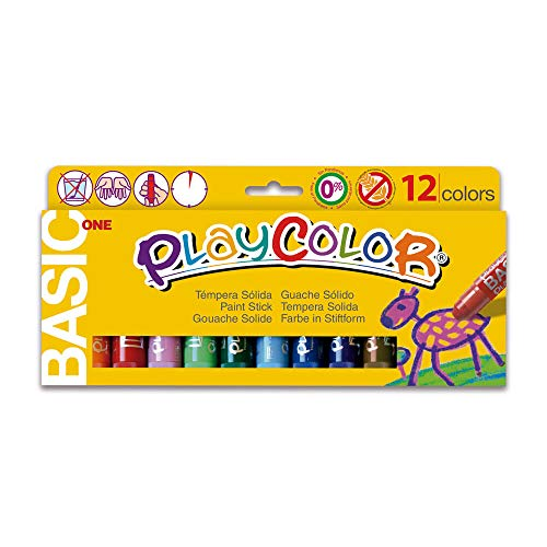 Brush Tempera Paint Tube - Jack Richeson 2610731 Paycolor Kids Poster Paint 12 Colors, Solid