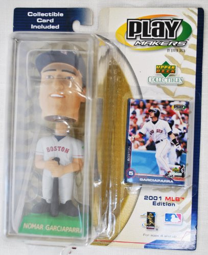 - Boston Red Sox star Nomar Garciapara #5 official MLB Upper Deck Playmakers Bobble card set Bobblehead