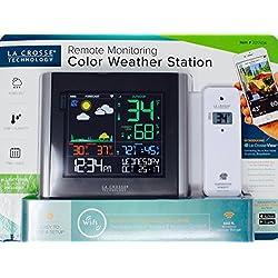 LA CROSSE Remote Monitoring Color Weather Station Black