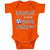 NY Baseball Fans. Is it Just Me? Orange Onesie (NB-18M) or Toddler Tee (2T-4T)