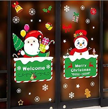 Svsnm Jour De Noël Stickers Muraux Dessin Animé Père Noël