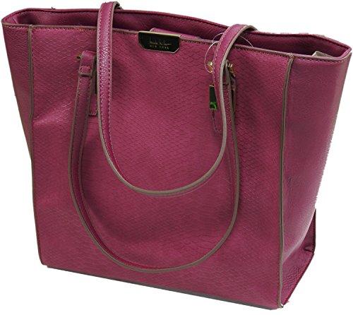 nicole-miller-new-york-authentic-ladies-gabby-tote-purse-winterberry