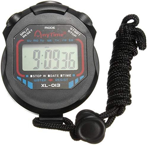 YIQI Digitale sportstopwatch, groot lcd-display, geschikt voor voetbal, basketbal, hardlopen, zwemmen, fitness en meer.