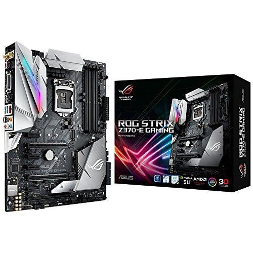 ASUS ROG Strix Z370-E Gaming LGA1151 (Intel 8th Gen) DDR4 DP HDMI DVI M.2 Z370 ATX Motherboard with onboard 802.11ac WiFi and USB 3.1 -