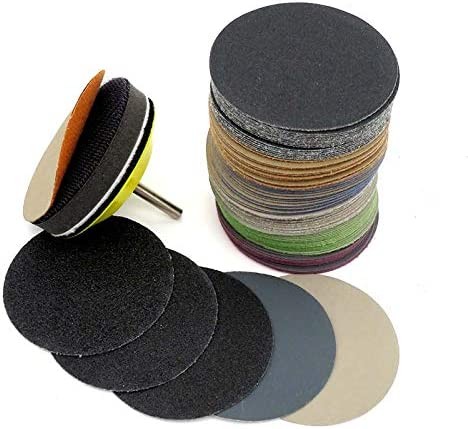 4 Inch 60-10000 Grit Hook /& Loop Sandpaper Sanding Discs Silicon Carbide Grain Wet//Dry 50-Pack 240Grit