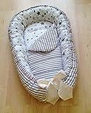 Baby Nest Baby Bed Grey Cotton Nursery Bedding Crib Newborn Gift Portable Crib