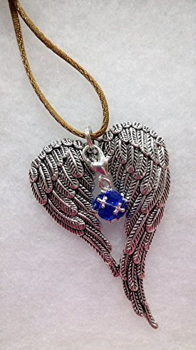 September Birthstone Angel Wings Memorial Christmas Ornament Sympathy Gift