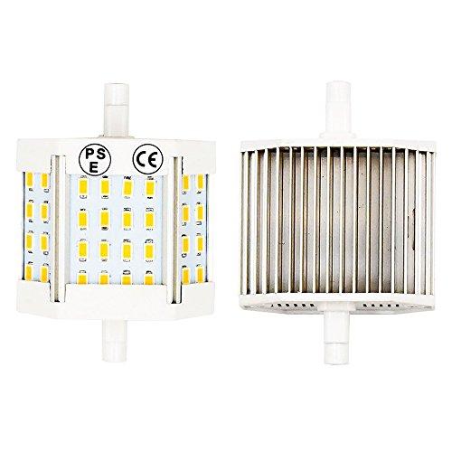 R7S 10W 78mm LED Light Lustaled 120V J78 T3 LED Double Ended R7S LED Floodlight Bulb Lamp (100W Replacement) for Workshop Stage Studio Landscape Lamps (Daylight 6000k, 2-Pack)