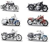 Miscellaneous goods P. TA copy Maisuto Harley Davidson 1/24 scale die-cast replica Motorcycle Part 3 (HARLEY-DAVIDSON MOTORCYCLES PART3) all six Furukonpu set model minicar bike