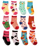 SDBING Baby's Cute 12-pair Thick Warm Cotton Socks