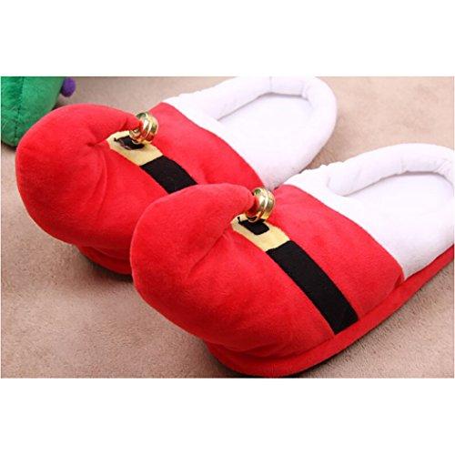 Calientes Xmas Elf Santa Casa Red Navidad De Campanas Fascigirl Zapatillas Con fwCqFPA