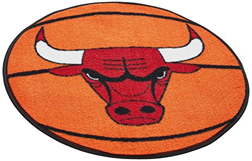 fan products of FANMATS  10218  NBA Chicago Bulls Nylon Face Basketball Rug