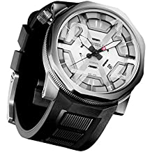 SISU Bravado A8 Swiss Automatic Men's Watch, Cage Dial, Rubber Strap (Model: BA8-50-RB)