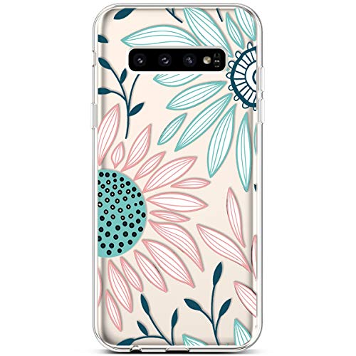 - PHEZEN Compatible Galaxy S10 Plus Case,Slim Shockproof Cute Amusing Whimsical Design Crystal Clear Ultra Thin Soft Silicone TPU Cover Bumper Phone Case for Samsung Galaxy S10 Plus,Green Daisy Floral