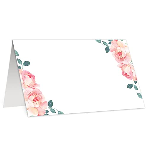 amazon com pretty roses place cards set of 50 tented wedding