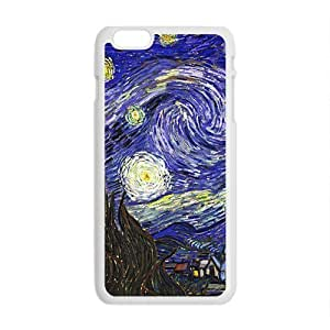 Happy Van gogh starry night paintings Cell Phone Case for Iphone 6 Plus hjbrhga1544