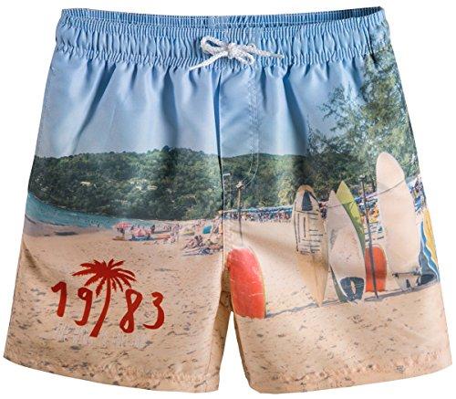 Elastic Waist Trunk (Akula Big Boys' Beach Swimsuit Swim Trunks with Elastic Waist)