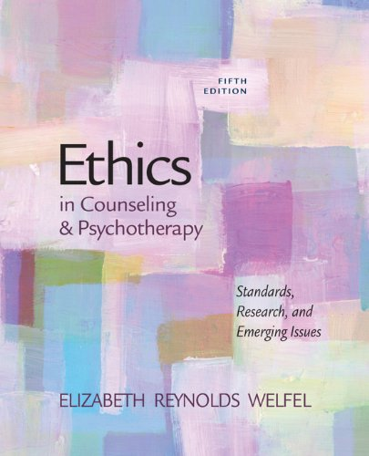 Ethics in Counseling & Psychotherapy Pdf