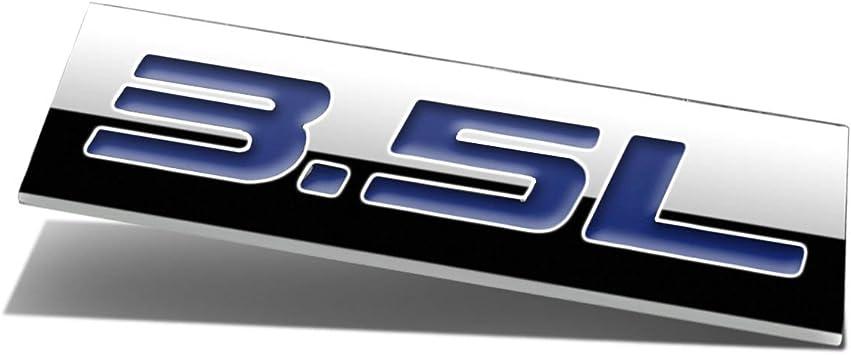BUMPER STICKER METAL EMBLEM DECAL TRIM BADGE POLISHED CHROME BLUE 3.8L 3.8 L