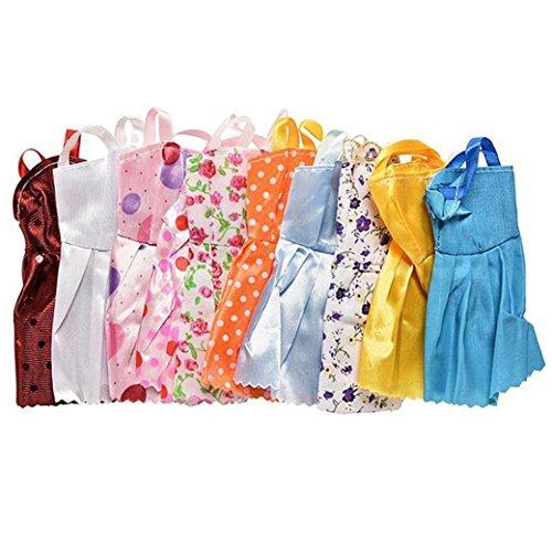 Digood 6/12PC Doll Dress Up Cheap Handmade Clothes Clothing Accessories Set (A-6PCS)