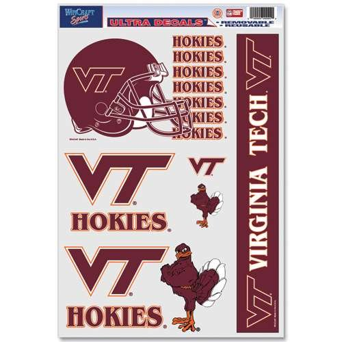 WinCraft Virginia Tech Hokies Ultra Decal Set - 11'' X 17''