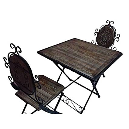 Crafts A To Z Wooden Iron Dining Table Chair Size