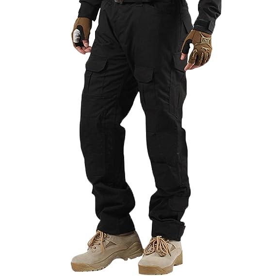 Libertepe Pantalon Sport Multi Poches Militaire Cargo Respirant Sports sans  Ceinture Casual Pantalon Hiver Homme Cyclisme ea9abd248ce