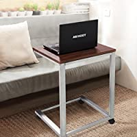Coffee Tray Sofa Side End Table Lap Stand TV Snack Ottoman Couch Room Rolling