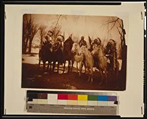 Photo: Chief,Little Plume,Buckskin Charley,Geronimo,Quanah Parker,Hllow Horn Bear,c1900