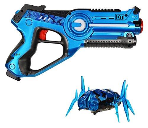 Dynasty Toys Laser Tag Blaster and Robot Nano Bug Striker (Toy Pink Pump Action Shotgun)