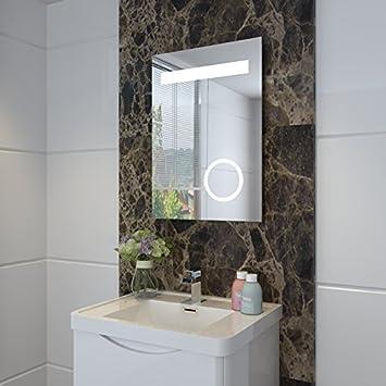 sunnyshowers LED Badezimmer Lichtspiegel und Schminkspiegel mit ...