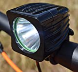Go Bright Rechargeable 1200 Lumen Road, Mountain Bike Headlight, New 6400 mAh Rechargeable Battery- 3 + Hours on High Beam with Free Taillight Review