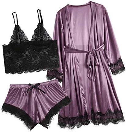 Vintress Women Lace Lingerie Sexy Nightwear Underwear Babydoll Sleepwear Dress 3PC Suit