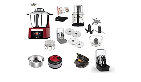 Magimix Cook Expert Red with More Accessories (1) Smoothie Mix Kit for juices, de 2) Citrus Press Cono de 2 – 3) Creative Kit Ideal for Being Creative Scale X Kitchen 3