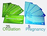 Health & Personal Care : ClinicalGuard 25 Ovulation Test Strips & 5 Pregnancy Test Strips Combo