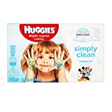 HUGGIES Simply Clean Fragrance-free Baby Wipes, Refill Pack (4-Pack, 1 Tub 768 Sheets), Alcohol-free, Hypoallergenic