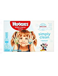 Huggies Simply Clean Baby Wipes, Unscented, Refill, 768 Ct (Packaging May Vary) BOBEBE Online Baby Store From New York to Miami and Los Angeles